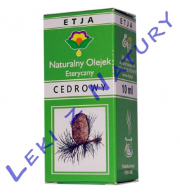 Olejek Cedrowy (Juniperus Virginiana Oil) 10 ml - Etja