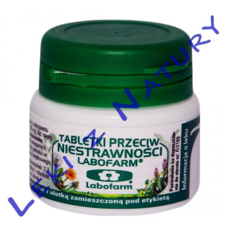 Tabletki Przeciw Niestrawności - 20 tabletek - Labofarm