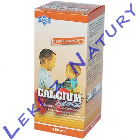Calcium Syrop o Smaku Truskawkowym - 150 ml