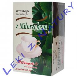 Ginkgo - Herbata Ziołowo - Owocowa z Miłorzębem 3,5g x 20 sasz Herbapol Kraków