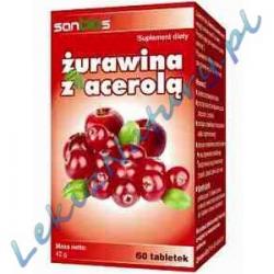 Żurawina z Acerolą 60 tabletek Sanbios