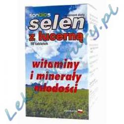 Selen z Lucerną 50 tabletek Sanbios
