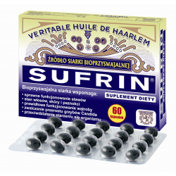 SUFRIN - źródło siarki - 60kaps - sprawne stawy, skóra, paznokcie.
