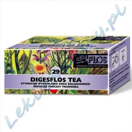 Herba Flos - Digesflos Tea (29) - Stymuluje Wydzielanie Soku Żołądkowego - 2,5 g. x 20 sasz