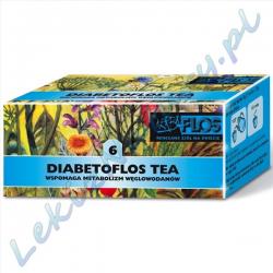 Herba Flos - Diabetoflos Tea (6) - Zioła Przeciw Cukrzycowe - 2,5 g. x 20 sasz.