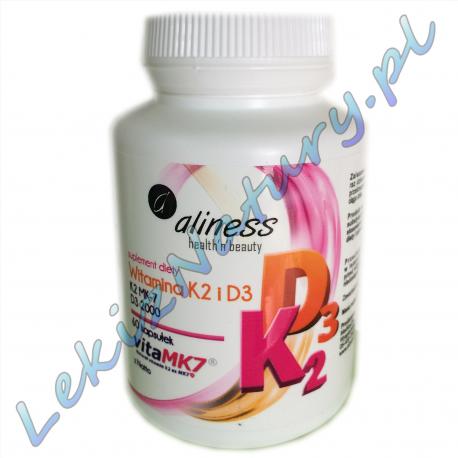 K2MK7 100mcg vitamine D3 + 2000 U.I. 60 capsules