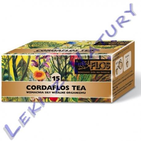 Cordaflos Tea (15) - Zioła Nasercowe oraz Obniżające Ciśnienie - 2,5 g. x 20 sasz. - Herba Flos