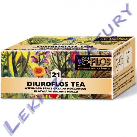 Diuroflos Tea (21) - Zioła Odtruwająco - Moczopędne - 2,5 g. x 20 sasz. - Herba Flos
